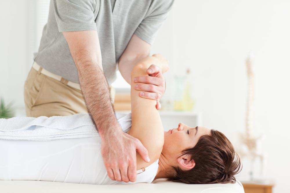 women getting rehabilitation treatment from a Pottstown chiropractor
