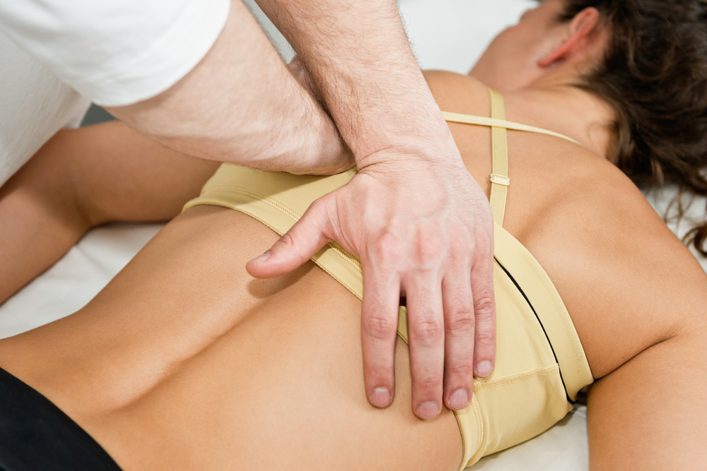 women getting a sports massage in Pottstown